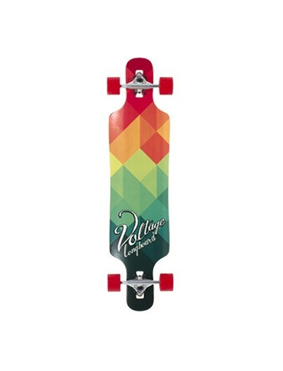 Longboard Kind Voltage Stubby Rood