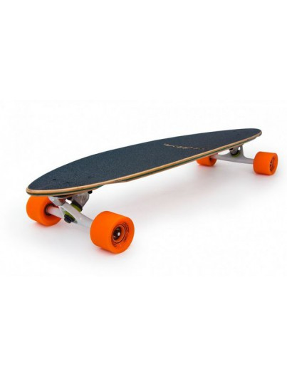 Longboard drop through Voltage Chequer blauw