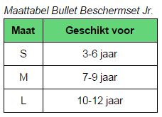 Maattabel Bullet Jr.