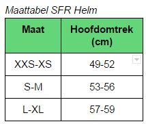 Maattabel SFR Helm